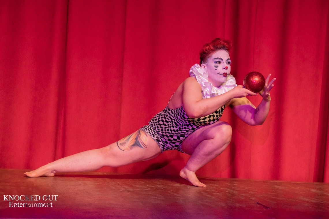 Contact juggling, clowning, whimsical, Cluster Cluck