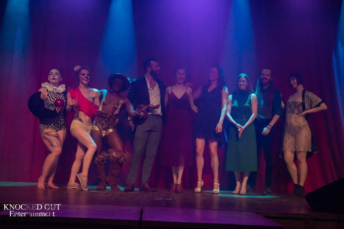 Cast photo, burlesque, cabaret, circus show, music show, Minneapolis music, Minneapolis entertainment
