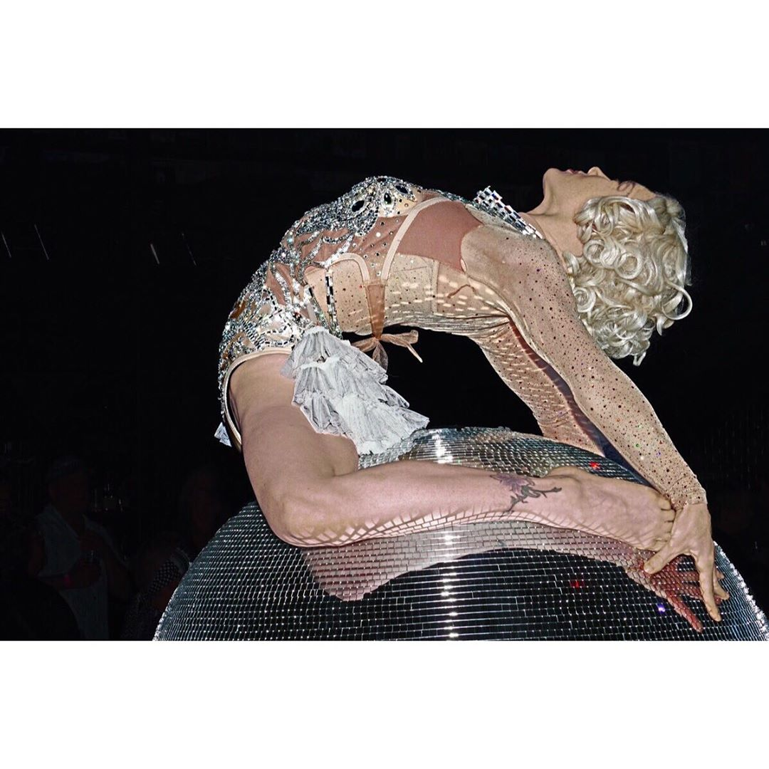 Mirror ball, disco ball, Minneapolis events, event entertainment, contortion, dance costumes, first ave, circus entertainment, Minneapolis performer, circus costumes